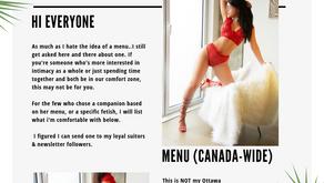Vanessa- Menu Update  (Canada-Wide: Touring)
