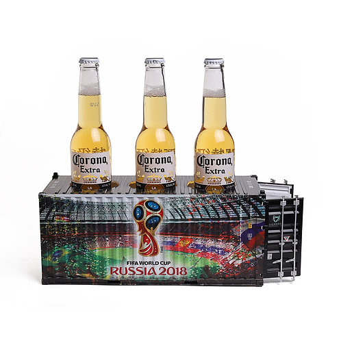 Shipping container beer box design