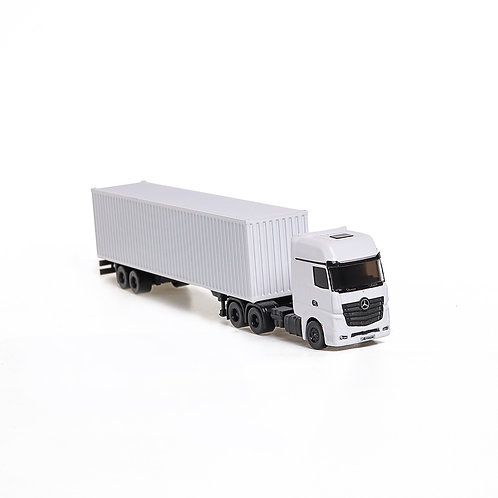 1:87 Mercedes dry container truck model