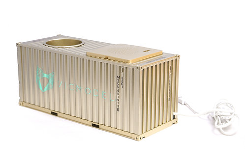 Shipping container music player