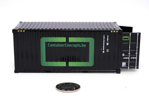 1:50 scale metal container model