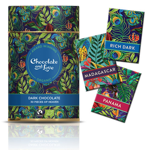 Chocolate & Love Tin (Rich Dark Blue)