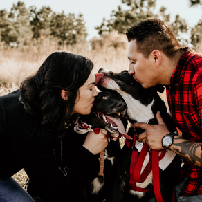Janessa and Candido-Engagement Session with the pups