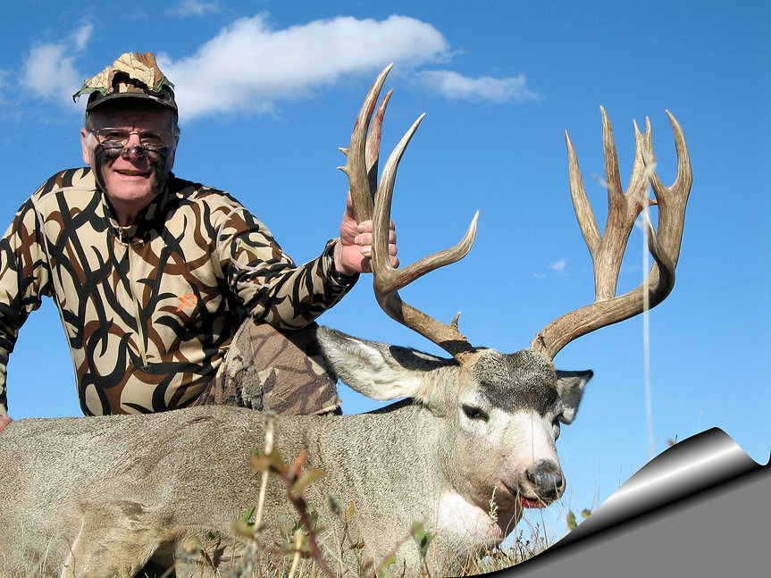 Trophy Alberta, spot and stalk Mule deer taken with bow by Tad. Timberline Outfitters