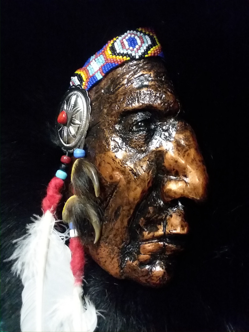 close up RedCloud 'the squint'.