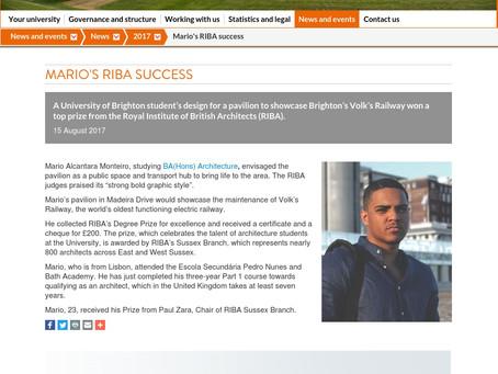 RIBA Prize press release on University of Brighton's Website