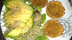 Canastos de plátano verde