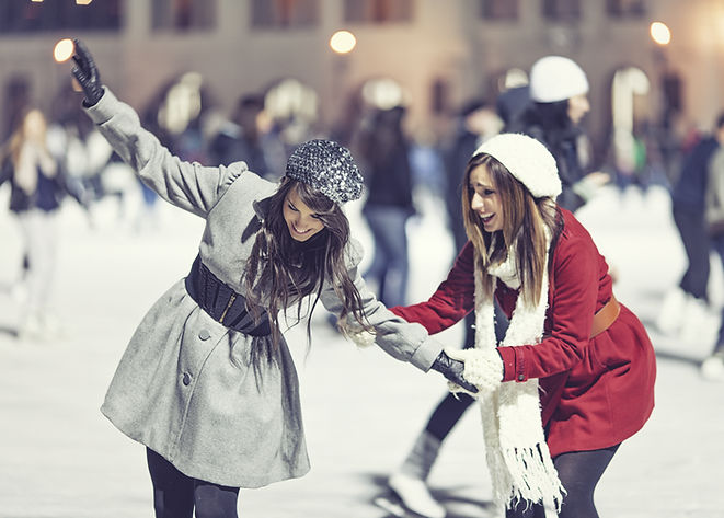 Two Girl Skating