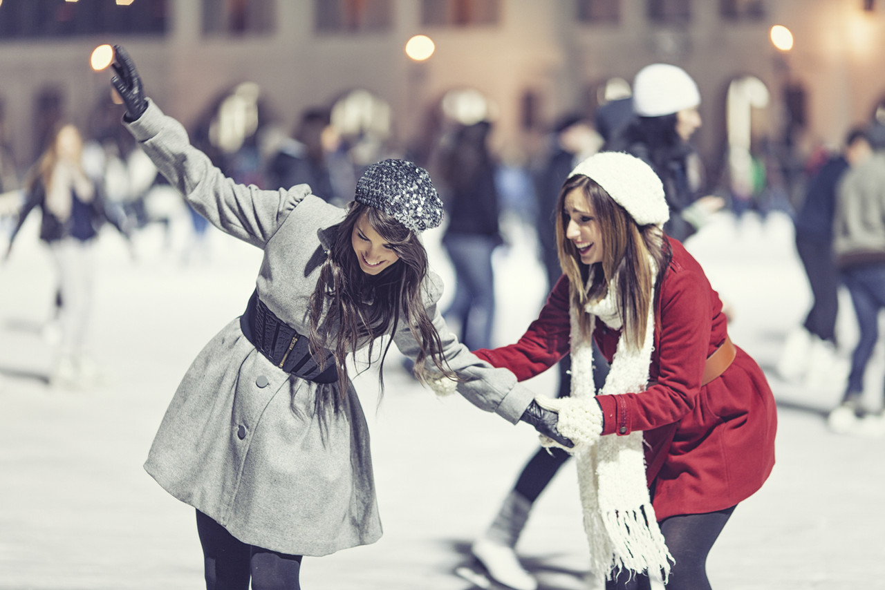 Two Girl Skating