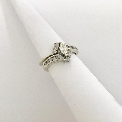 Ladies WG Wedding Set with Diamonds