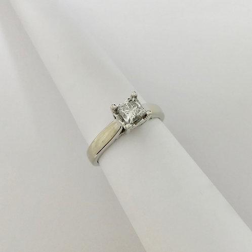 Ladies WG Solitare Princess Cut Ring