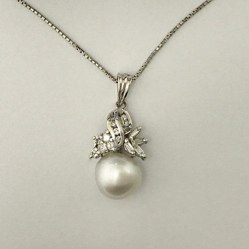WG Diamond & Pearl Charm & Chain Set