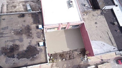 Aerial of the concrete addition
