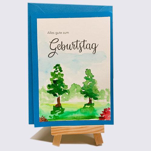 Karte – Alles gute zum Geburtstag, Wald