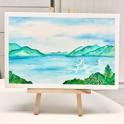 Aquarelle _Lago Maggiore