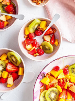 A jazzed up fruit salad is the perfect a