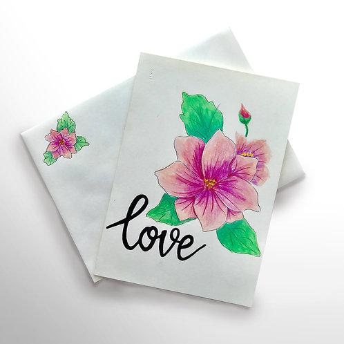 Karte «Love Blume»