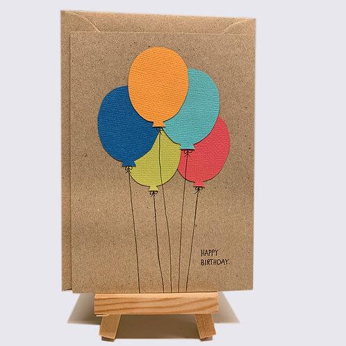 Karte – Happy Birthday, Ballon