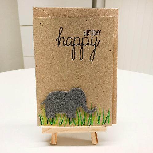 Karte – Elefant