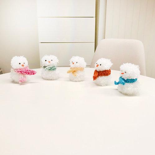 Pompon Schneemänner