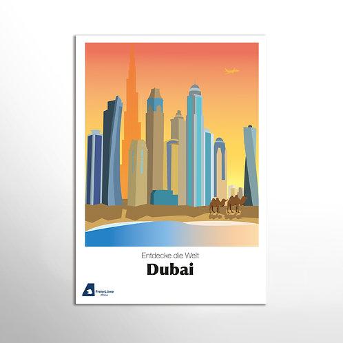 Poster – Entdecke die Welt, Dubai