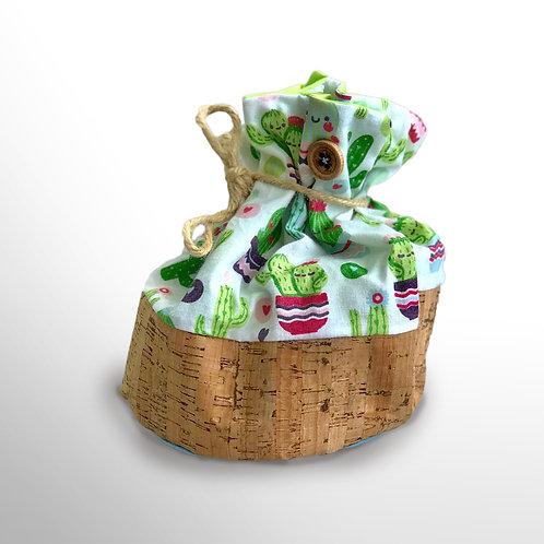 Stoffbeutel «Kaktus mit Kork» (klein)