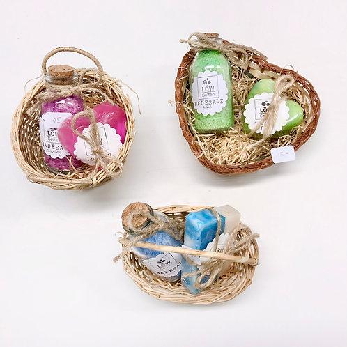 Geschenkkörbchen Seife und Badesalz