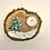 Thumbnail: Teelichthalter aus Holz Hase und Tanne