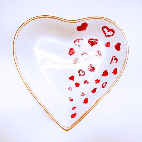 Handbemalte Herzschale