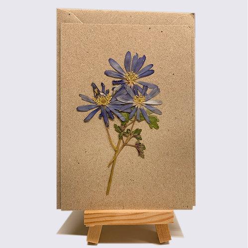 Karte – getrocknete Blumen