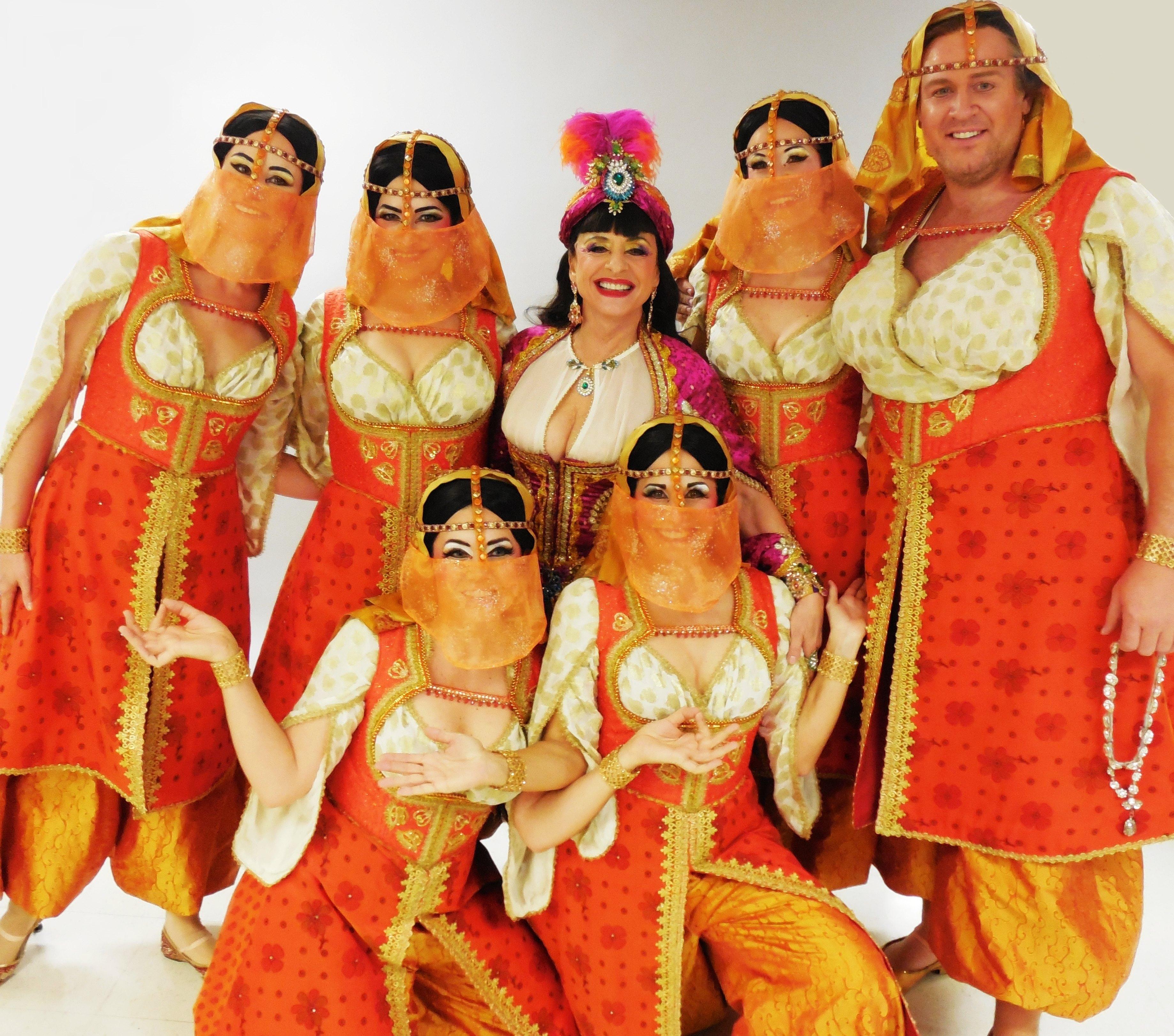 Patti Lupone & Turkish Dancing Girls