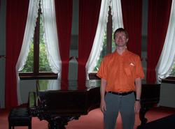 Rainer next to Wagner's Steinway