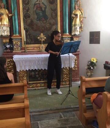 Ela playing Bach in Sebastian Kapelle
