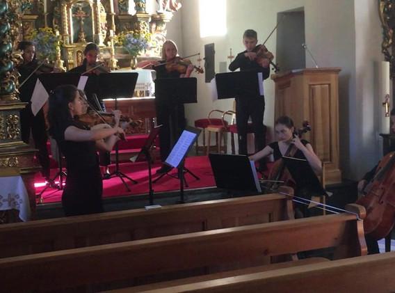 Mendlesohnn Octet rehearsal Pfarrkirche