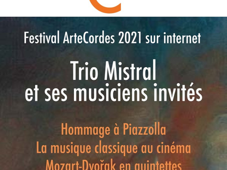 Olivier Piguet, our wonderful coach, presents an online festival of music with his trio