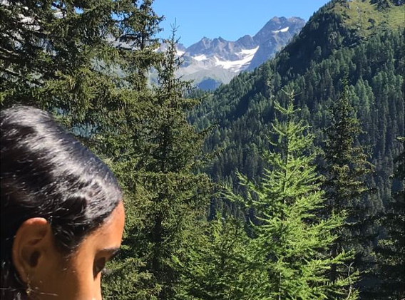 Ela Binntal hike to waterfall