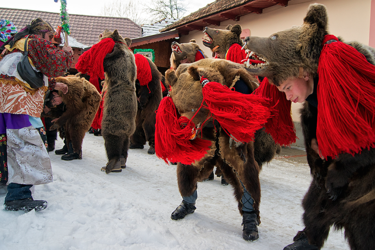 Dressing up as Bears in Romania!