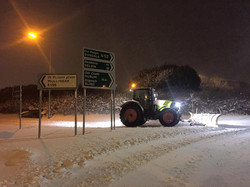 Winter care , Snow ploughing