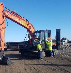 Machine delivery to Large scale site
