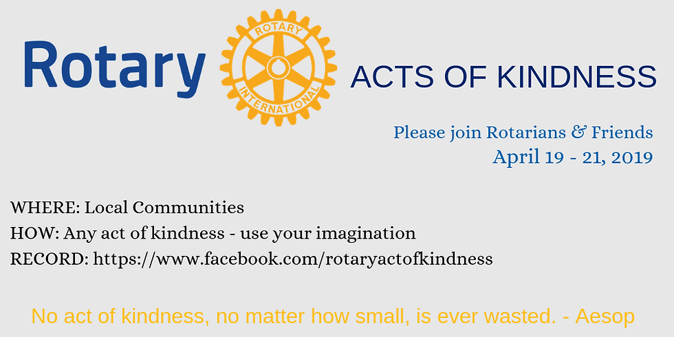 Rotary Acts of Kindness Day!
