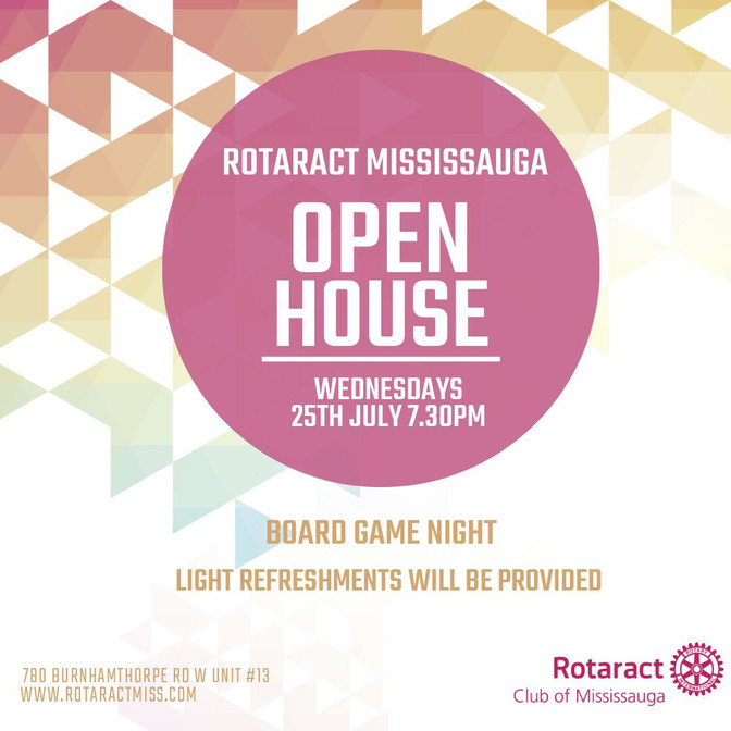 Rotaract Mississauga's Open House
