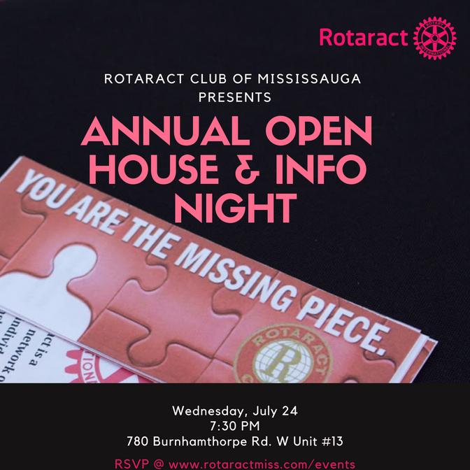 Summer 2019 Open House & Info Night