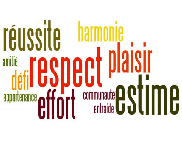 respect, estime, effort, réussite