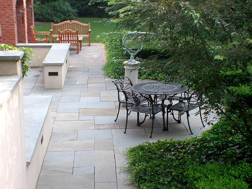 patio walls multi-level stairs natural patio bucks mercer hunterdon montgomery county pa