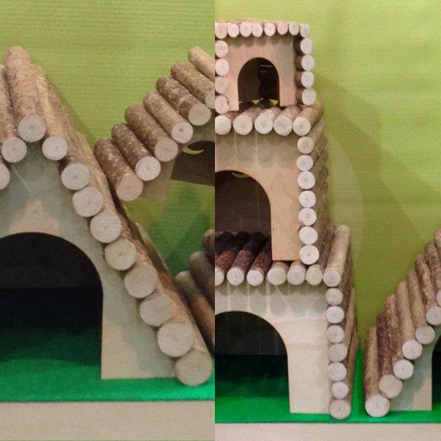 Домики и мостики для грызунов из натурального дерева🐿 они же и лакомство🌰