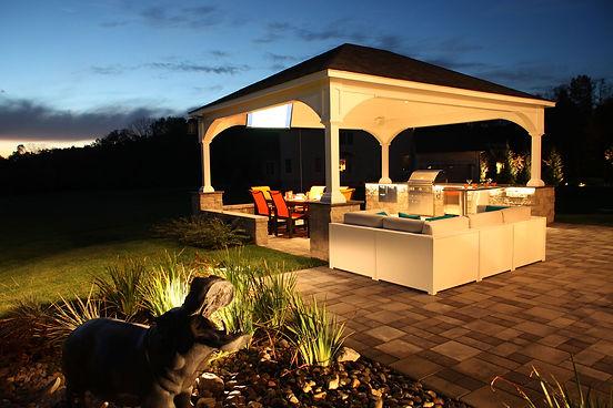 outdoor lighting patios decks landscape  bucks mercer hunterdon montgomery county pa