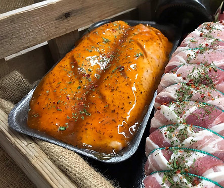 Two 9oz Gressingham Duck breasts in Orange and Mint sauce