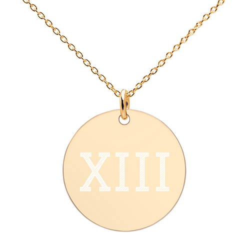 XIII Engraved Disc Pendant