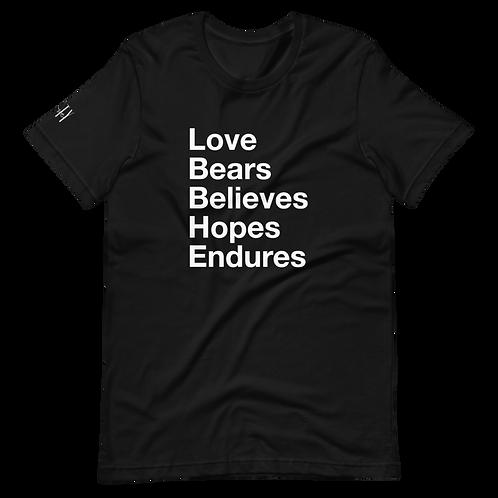 Love Helvetica Short-Sleeve Unisex T-Shirt