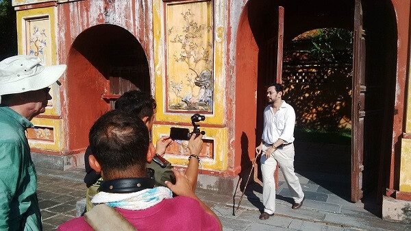 Vietnam fixer arranged the permit for Channel NewsAsia film crew to shoot in Imperial city of Hue